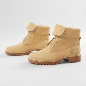 Like New Timberland JAYNE Suede Fold Down Boots